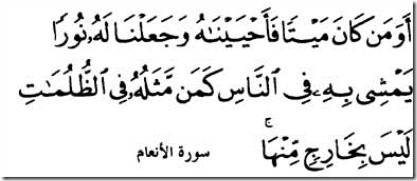 surah anaam light from Allah