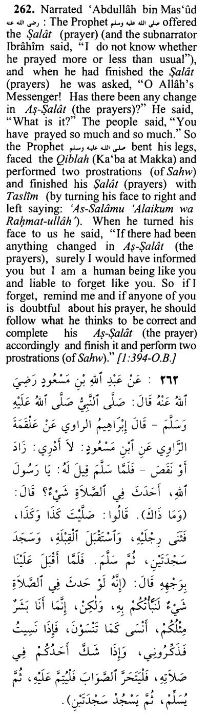 Sajda Sahw for mistakes in Salat Prayers