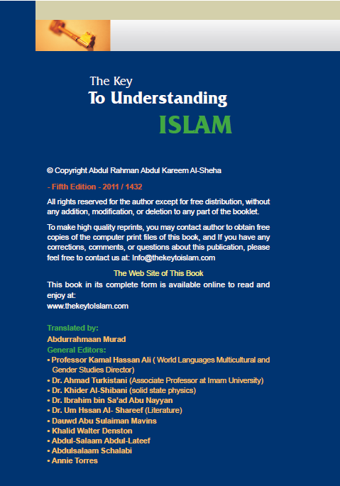 The book highlights the complete way of living Islam has mapped out for Muslims.