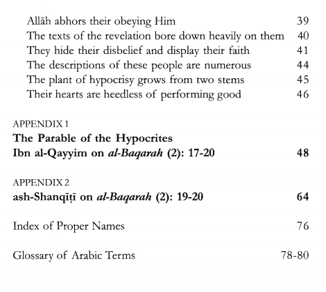 Characteristics of the Hypocrites