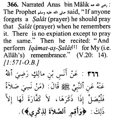 Forgetting salat and prayers