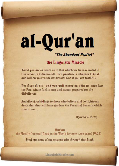 8. Quran: The Linguistic Miracle