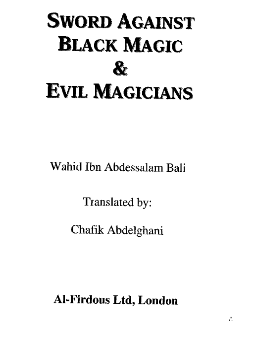 Talks about black magic and how it affects Muslims