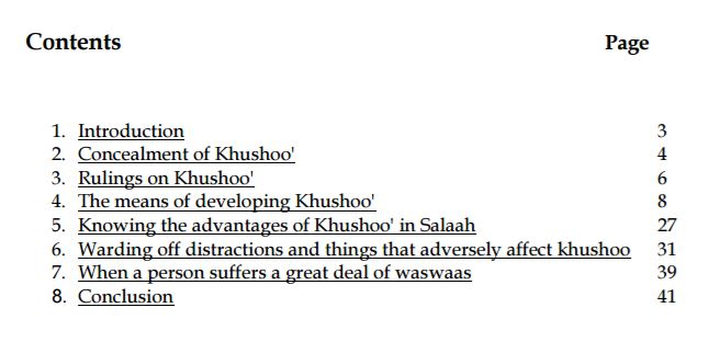 33 guidelines to develop Khushoo' in Salah