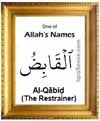 Al-Qabid - 99 names of Allah