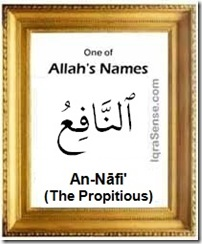 An-Nafi Benefactor Source of Good - Allah's Name