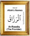 Ar-Razzaq - Who is Allah