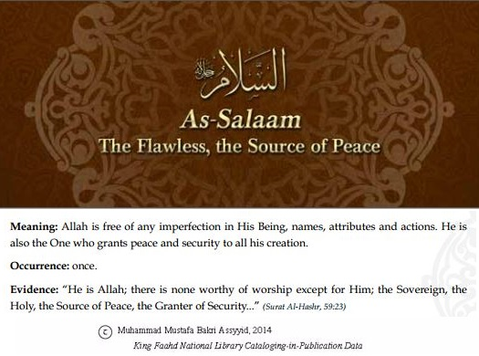Allah's names - As-Salaam