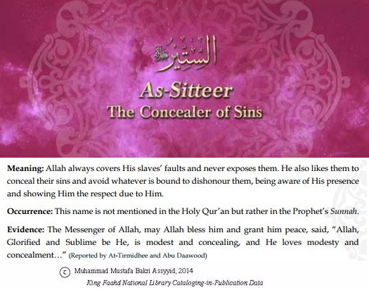Allah's names - As-Sitteer