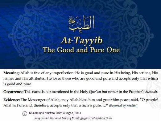 Allah's names - At-Tayyib
