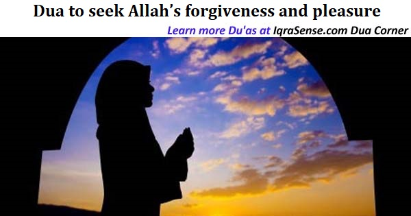 Dua to seek Allah's forgiveness and pleasure