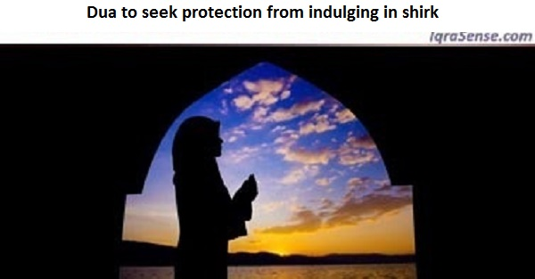 Dua to seek protection from indulging in shirk