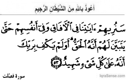 Surah Fussilat Verse 53 - Quran - The ultimate Truth sent from Allah