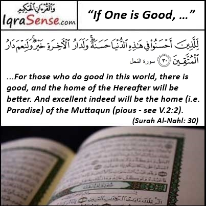 Surah Nahl Verse 30 If One is Good