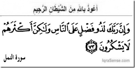 Naml-V73 Allah is gracious to mankind