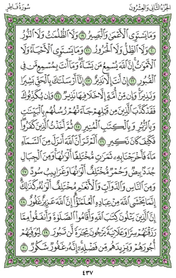 Surah Al-Fatir Arabic English Translation