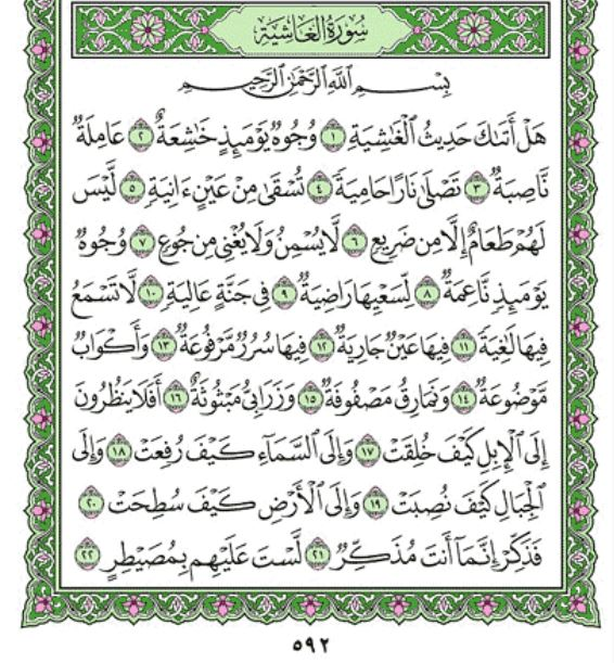 Surah Al-Ghaashiyah Arabic English Translation