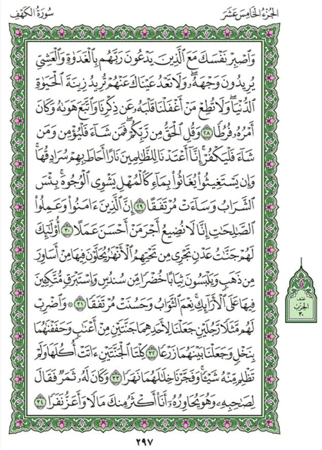 Surah 18 Alkahf The Cave In Arabic With Ibn Kathirs Tafsir In