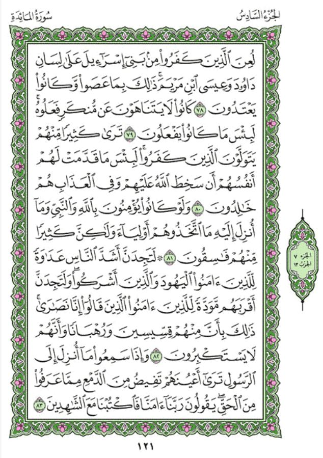 Surah Al-Maidah Arabic English Translation