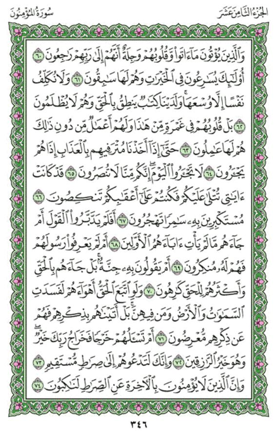 Surah Al-Mu'minun Arabic English Translation