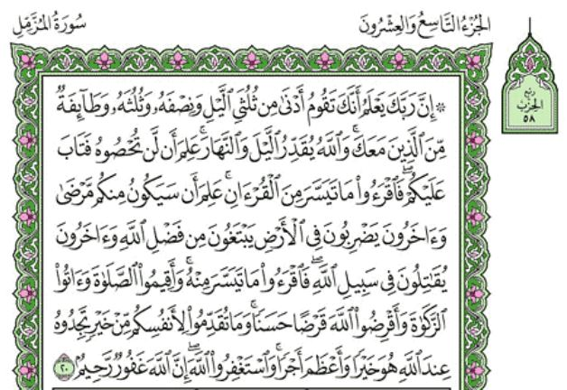 Surah Al-Muzzammil Arabic English Translation