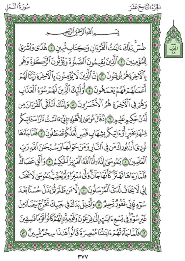 Surah An-Naml Arabic English Translation