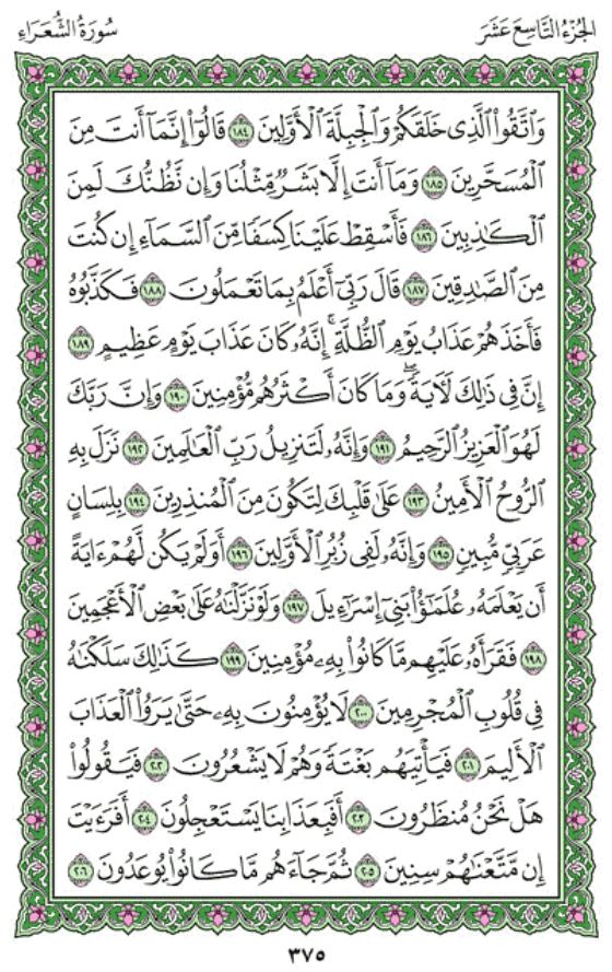 Surah Ash-Shu'ara' Arabic English Translation