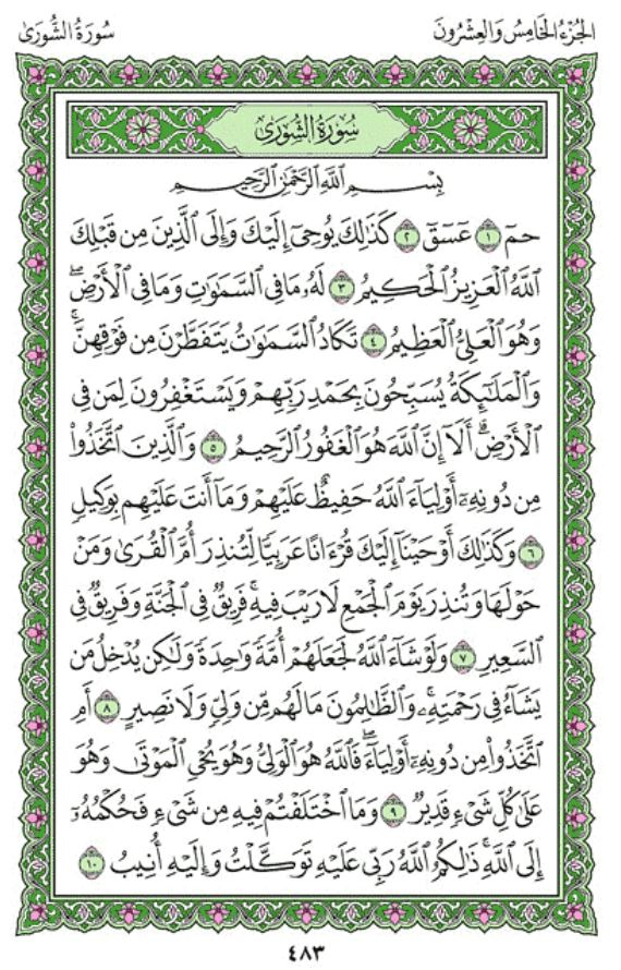 Surah Ash-Shurah Arabic English Translation