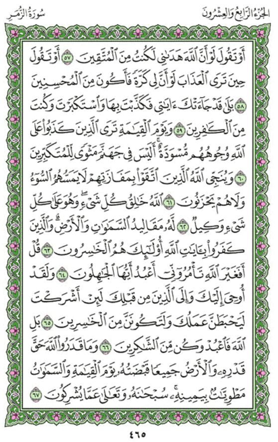 Surah Az-Zumar Arabic English Translation