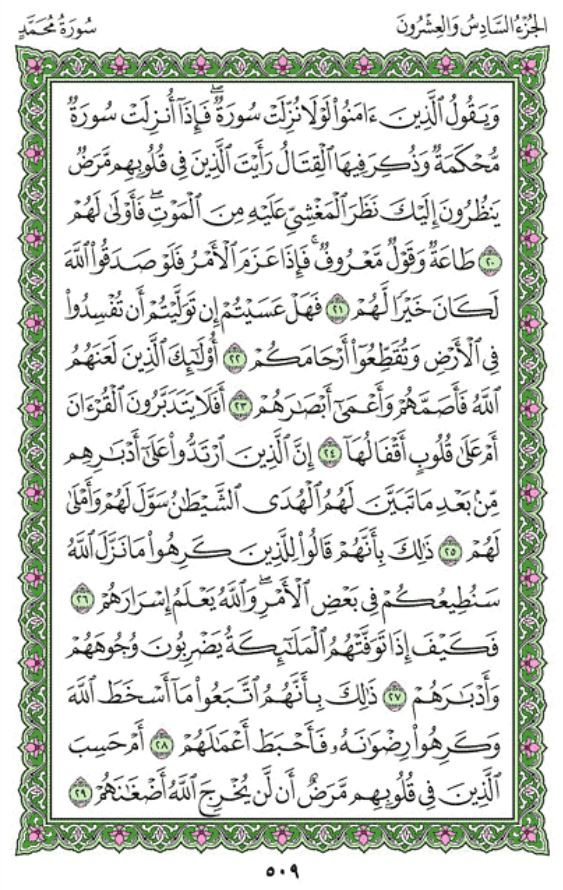 Surah Muhammad Arabic English Translation