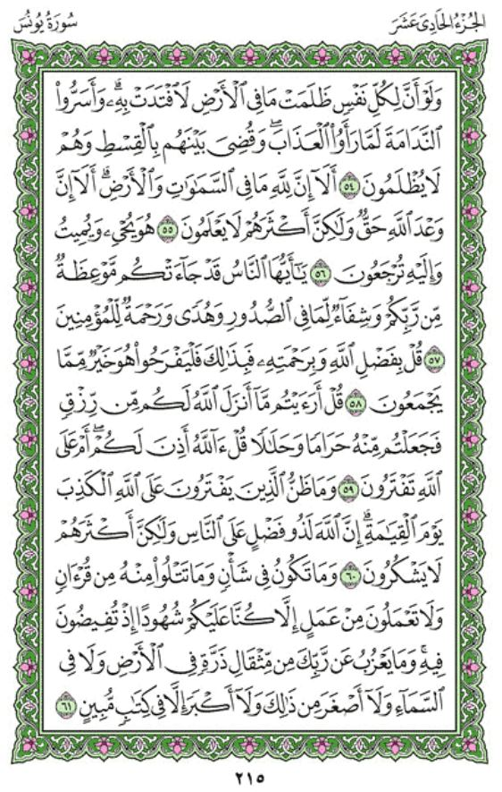 Surah Yunus Arabic English Translation