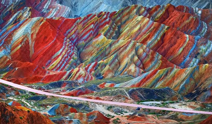 quran chinese colored mountains quran