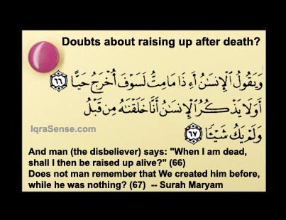 death in Islam raising after death