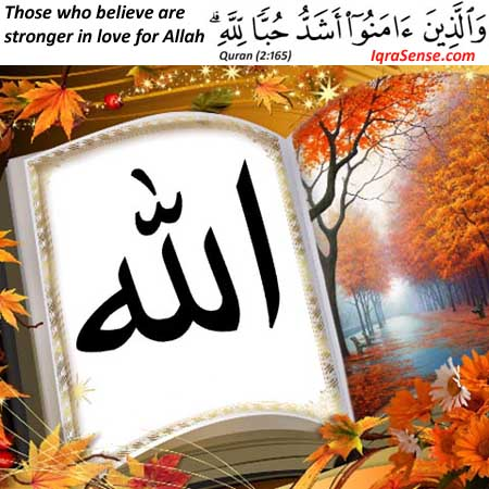 Believers in Islam love Allah