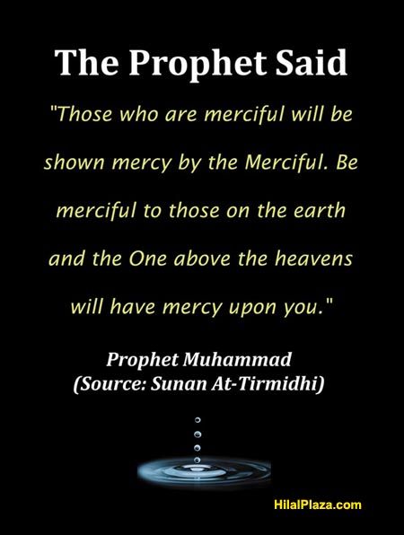 Prophet saying mercy ALlah