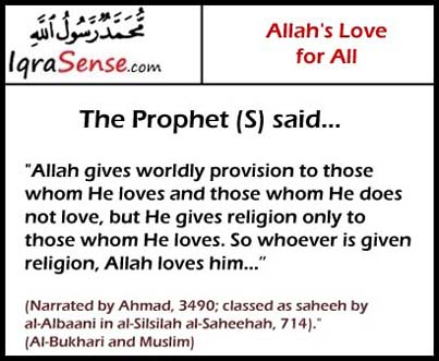 prophet hadith sayings love