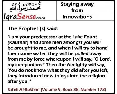 bidaah - hadith on innovation religion