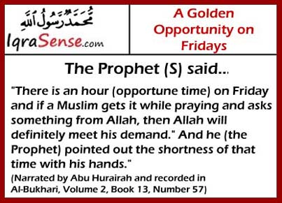friday blessings prophet hadith