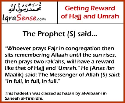 prophet rewards on Hajj and Umrah