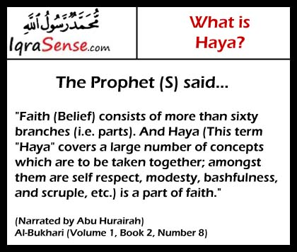 prophet haya faith modesty