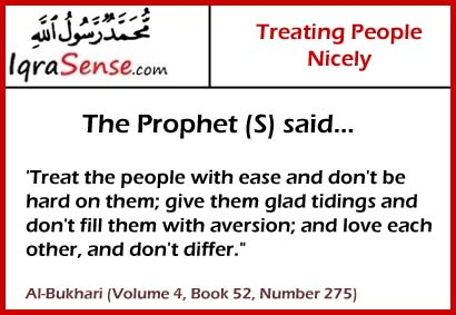 treating people with love and kindness