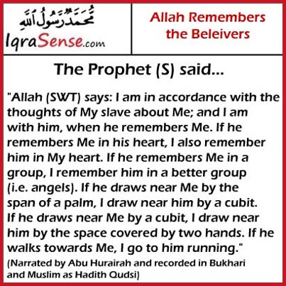 prophet hadith on Allah remembrance