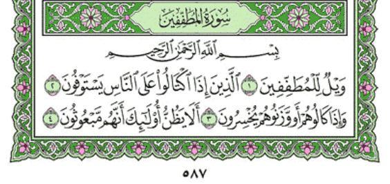 Surah Al-Mutaffifin (Chapter 83) From Quran