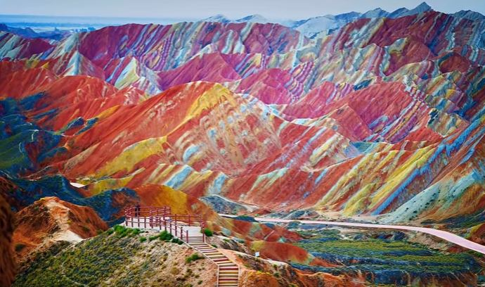chinese colored mountains islam quran