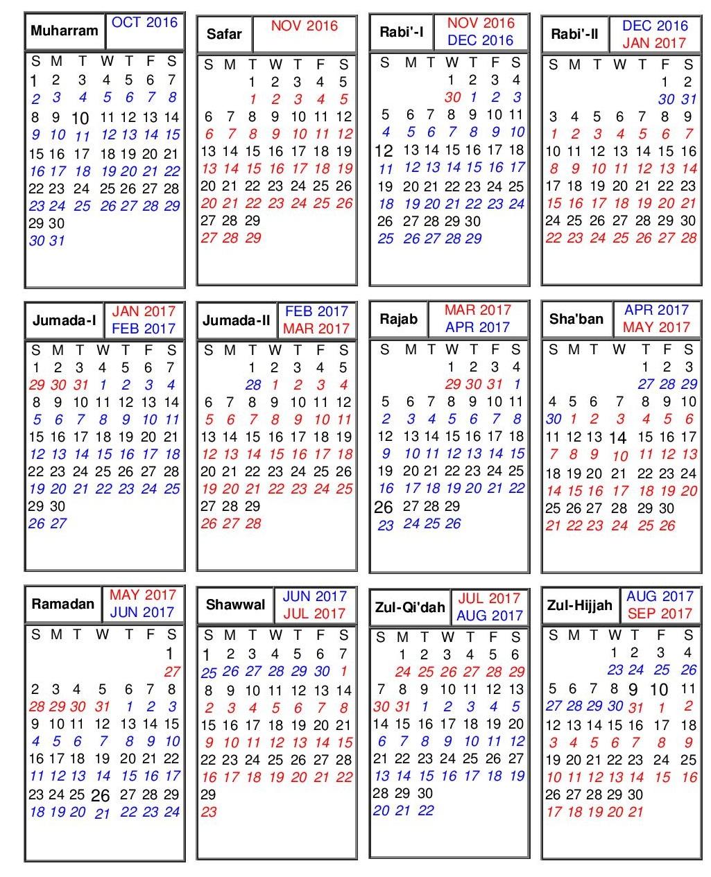 islamic  christian and jewish  hebrew  calendars